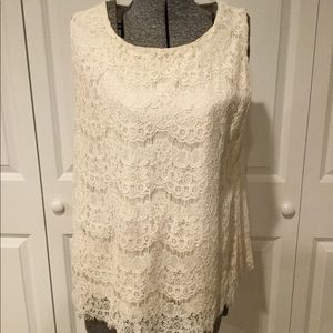 Faith and Joy Lace Top Size Large